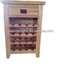Solid oak open wine shelf