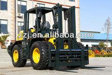 CE 1000kgs Rough Terrain Forklift air compressor