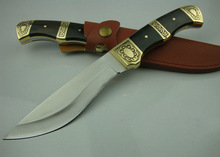 Brand New Black wind man no. 1 Survival Knife Camping Knife with Leather Sheath UDTEK01258