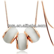2013 new fashion antique gold white stone ring pendant necklace