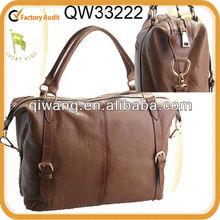 Fashion Khaki Genuine Grain Cow Leather Handbag