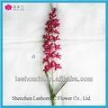 red vanda orquídea flor artificial único tronco