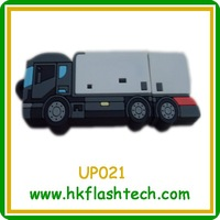 Funny truck shape plastic usb flash pendrive,2/4/8/16/32gb usb 2.0 with factory price for childrens' gift