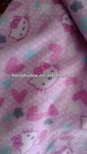 100% polyester hello kitty print polar fleece fabric