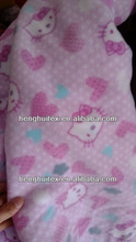 100% polyester hello kitty print polar fleece fabric