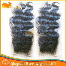 Factory Price 100 mongolian closure piece body wave closures lace bleached knots lace top closure 3.5x4 Density 120% 1b color