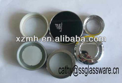 stainless steel cap & filter for glass cup