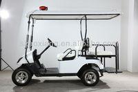 AX-B2+2 OEM Cheap 4 Seater police golf cart sale, 48V DC motor, maintenance free batteries