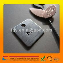 Stainless steel metal brush logo plate one hole metal logo plate