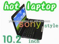 popular 10.2 inch mini black laptop( sony style 1G/160HDD)