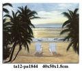 Chino de pinturas de paisajes de playa, con lona estirada al por mayor
