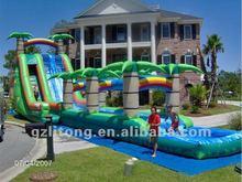 Rainbow Giant Double Lane Inflatable Slide