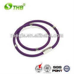 Tourmaline negative ion necklace silicone
