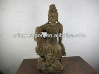wood laughing buddha statu