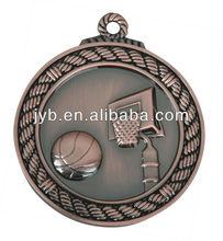 Basketball of 5 cm sports metal medal