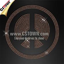 Peace symbol custom nailhead iron on transfer