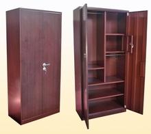2013 New design double doors bedroom Indian wardrobe design, metal locker, metal cupboard with small doors