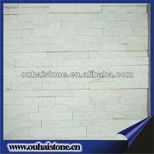 High quality natural wall white quartz ledge stone
