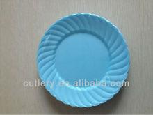 excellent houseware disposable plastic blue round plates