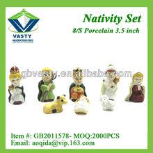 Christmas ceramic statue nativity