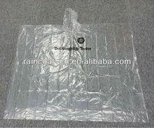 PE clear disposable rain poncho