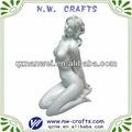 Resina blanco estatua desnuda de la mujer escultura