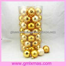 Candy top, glass ball, high quality barrelled packaging GML Christmas glass ball