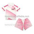 2013 nuevo diseño personalizado de color rosa camisetas de fútbol