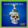 Super cool!!!silver skeleton shape usb disk ,bulk 2&4&8gb usb flash drive with CE/FCC/ROHS