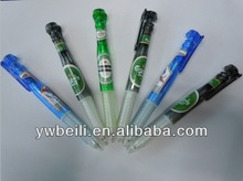 custom promotional beer ball pen with holder clip