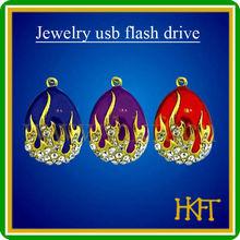 Topsell mini diamond gift jewelry necklace usb flash drive,OEM usb memory with 100%full capacity