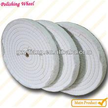 high fine finishing cotton sewn polishing wheel soft jewel polishing cloth.