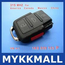2013 super high quality volkswagen/VW transponder key for 315MHZ 1JO 959 753 P, Volkswagen key with 315MHZ--Demi