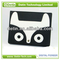 2013 New Design Fox Series PU leather case for iPad 4 Tablet for all iPad