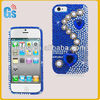 Handmade High Quality Heart Pearl Bling Diamond Crystal Case Cover for iPhone 5