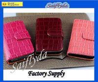 High quality crocodile leather portfolio case for iphone 4 4s