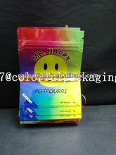 Mr. happy herbal incense packaging bag with zipper/caiyuntian potpourri bag