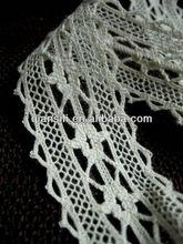 Guangzhou manufacturer 2013 new design crochet edging cotton torchon trim lace 3.4 cm,sofa