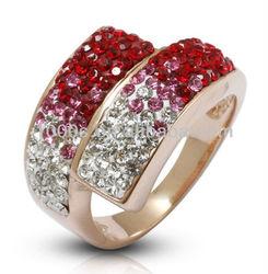 Hot sale fashion jewelry big crsytal ring