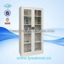SW-C180 glass door display cheap metal filing cabinet
