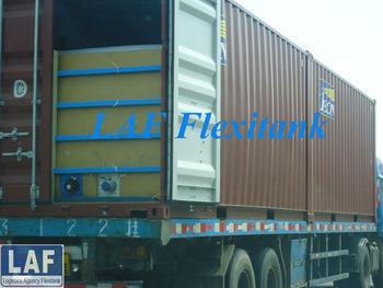 disposable flexibag in container for transport