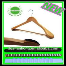 ZH-Non-slip hanger combin with ultra thin velvet hangers
