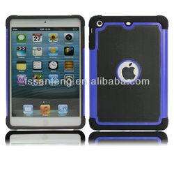hard pc silicon case for ipad mini case, hot case for ipad mini