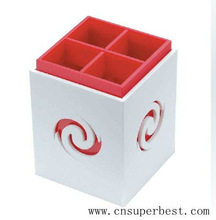 Chinese design acrylic pen holder with engraved picture