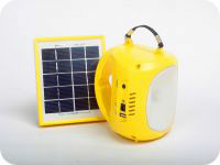 Eco mini solar power emergency led light with mobile charge function