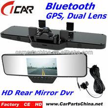 bluetooth dual camera g-sensor 4.3'' Screen 720p camera spy