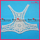 upper outer heavy african voile lace motifs for gament