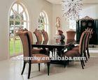D6001-42L solid wood designer dining table set