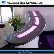 Contemporary design Artificial Marble Commercial reception desk(TW-PART-024)