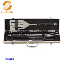 3pcs stainless steel bbq tool set brick spits for large hot sale